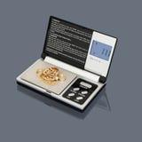 digital guld- scalesrest Arkivbild