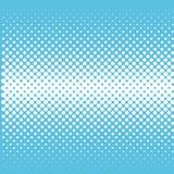 Digital-Halbtonsteigungsmuster, weiße Punkte auf blauem Hintergrund vektor abbildung