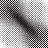 Digital halftone gradient pattern in black dots on white background vector illustration