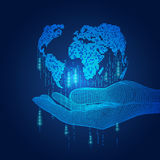 Digital halten lizenzfreie abbildung
