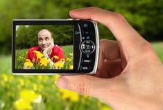 digital hand för kamera royaltyfri foto