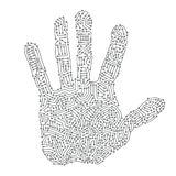 Digital hand print. Concept illustration royalty free illustration