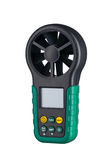 Digital handheld anemometer 3/4 view isolated on white Royalty Free Stock Images