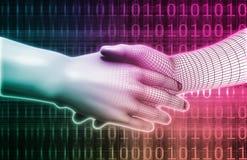 Digital Handshake Royalty Free Stock Photos