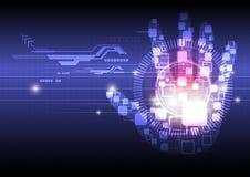 Digital-Handtechnologiehintergrund Lizenzfreie Stockbilder