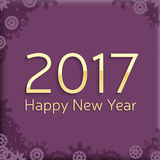 Digital happy new year 2017 text design. Stock Photo