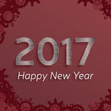 Digital happy new year 2017 text design. Stock Images