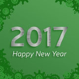 Digital happy new year 2017 text design. Royalty Free Stock Photo
