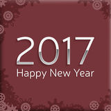 Digital happy new year 2017 text design. Stock Photography
