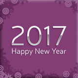 Digital happy new year 2017 text design. Royalty Free Stock Images