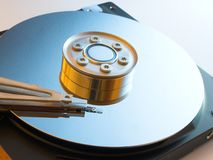 Digital hard drive. Inner parts of a computer hard drive Royalty Free Stock Images
