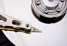 Digital hard drive and head Stock Image