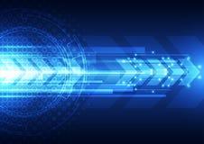 Digital hastighetsteknologi för vektor, abstrakt bakgrund royaltyfri illustrationer