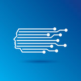 Digital Head Line art vector symbol design template. Royalty Free Stock Photos