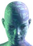 digital head stående 3d Royaltyfri Bild