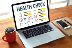 Digital HEALTH CHECK Concept working with computer interface as Royalty Free Stock Photo
