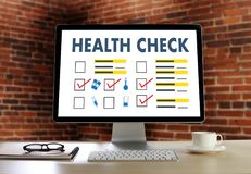 Digital HEALTH CHECK Concept working with computer interface as Royalty Free Stock Images