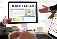 Digital HEALTH CHECK Concept working with computer interface as Royalty Free Stock Image