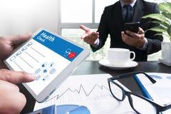 Digital Health Check Healthcare Concept Stock Image