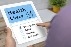 Digital Health Check Healthcare Concept stock images