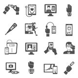 Digital Health Icons Set Stock Image