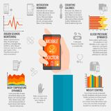 Digital Health Infographics Royalty Free Stock Images