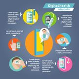 Digital health infographics Royalty Free Stock Photos