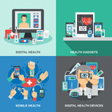 Digital Health Set Royalty Free Stock Photography