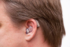 Digital hearing aid Royalty Free Stock Image