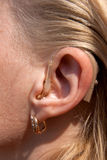 Digital hearing aids Royalty Free Stock Photography