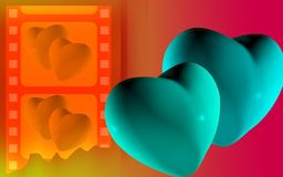 Digital heart background stock illustration