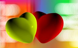 Digital heart background Royalty Free Stock Image