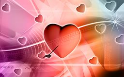 Digital heart background Stock Photos