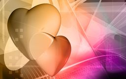 Digital heart background Royalty Free Stock Photography