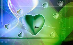 Digital heart background Royalty Free Stock Images