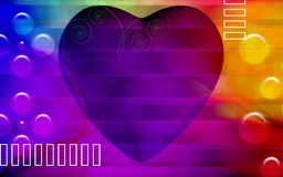 Digital heart background Royalty Free Stock Photo