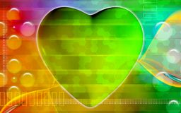 Digital heart background Stock Images
