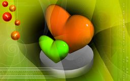 Digital heart background Stock Photo