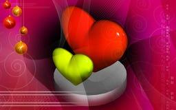 Digital heart background Royalty Free Stock Photo