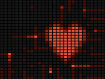 Digital heart illustration Royalty Free Stock Photo
