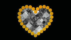 Digital heart stock video