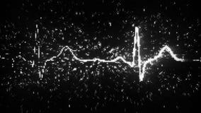 Digital heart monitor EKG electrocardiogram Royalty Free Stock Photo