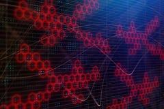 Digital hexagon wallpaper. Abstract digital hexagon wallpaper. 3D Rendering Stock Images