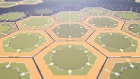 Digital Hexagonal Background, Beautiful 3d animation. Seamless Looping 4K.  stock video