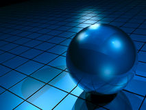 Digital hi-tech ball Royalty Free Stock Images
