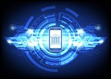 Digital-Hintergrund mit dem Ein Bankkonto haben des on-line-Vektorkonzeptes Lizenzfreie Stockfotos