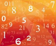 Digital-Hintergrund mit Zahlen Stockbild