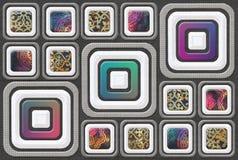 Digital-Hintergrund Multy entkernen Wand-Fliesen lizenzfreie abbildung