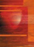 Digital-Hintergrund von Wörtern auf Orange Stockfoto