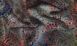 Digital-Hintergrundkunst des Blumen-/Blumenmusters Stockfotografie